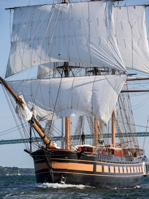"""Oliver Hazard Perry is the first ocean-going full-rigged ship to be built in the US in 110 years and is named for the young Rhode Island hero of the Battle of Lake Erie who on September 10, 1813 wrote, """"We have met the enemy and they are ours..."""" The ship's business is conducted from offices in Perry's restored former home in Newport, Rhode Island."""