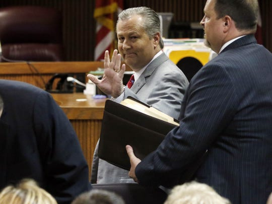 Mike Hubbard in court.