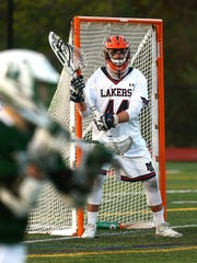 Mountain Lakes goalkeeper Garrett Smith vs. Delbarton