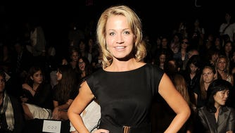NEW YORK - SEPTEMBER 11:  Reporter Michelle Beadle is seen around Lincoln Center during Mercedes-Benz Fashion Week on September 11, 2010 in New York City.  (Photo by Katy Winn/Getty Images for IMG) [Via MerlinFTP Drop]