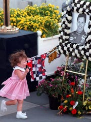 Scott Brayton's daughter Carly and the driver's funeral