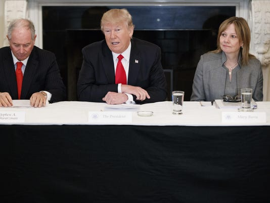 Donald Trump,Stephen Schwarzman,Mary Barra