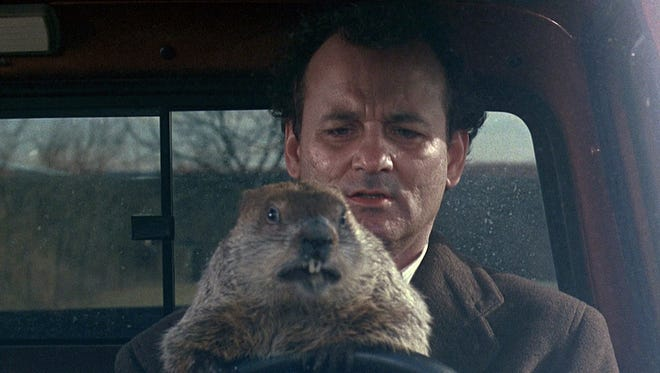 """Bill Murray in """"Groundhog Day,"""" the movie that changed the meaning of the term."""