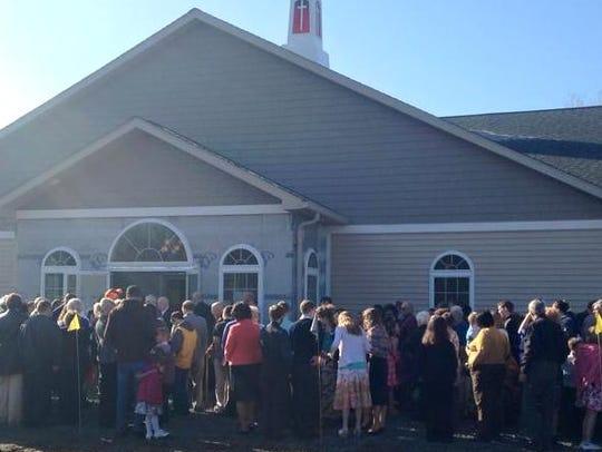 Members of Tabernacle Baptist Church in Tioga, Pa.