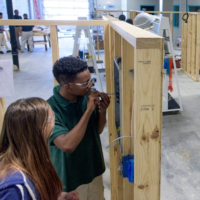 Students work in the Electrical Technology Industrial