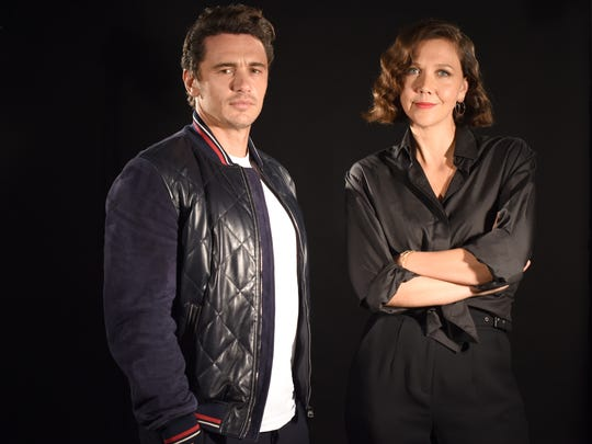 'The Deuce' co-stars James Franco, left, and Maggie