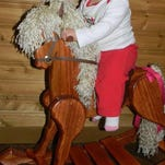 Rotary member Bob Galenkamp, Wharton, builds handcrafted rocking horses, such as this one, which he created for his granddaughter, Savannah. The winner of the wooden rocking horse that's being offered in the A Night on Broadway tricky tray will be customized to include the name of the lucky child who receives it.