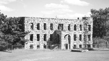 The remains of the old Maribel Caves Hotel (pictured) are said to be haunted.