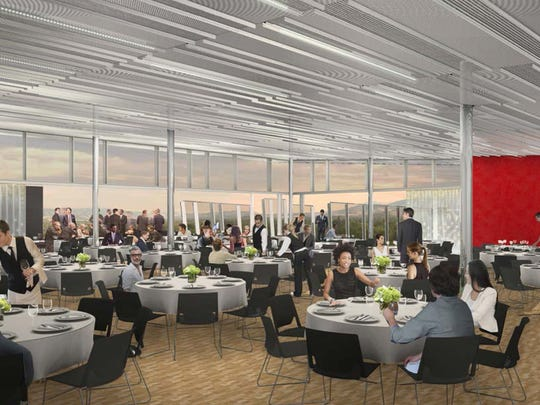 A rendering of the new sky room at the Nevada Museum