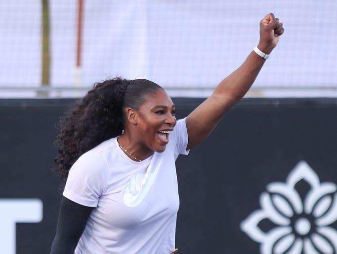 Serena Williams at the Desert Smash charity tennis