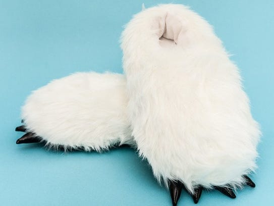 These fluffy yeti slippers ($29.99) are super comfortable