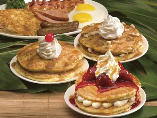 Selection of pancakes from IHOP.