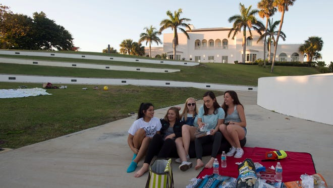 Friends (from left) Karlee Ghahremanzadeh, 17, of Jensen Beach; Kara Schmoyer, 17, of Stuart; and Rachel Barham, 17, Caroline Brauchler, 15, and Brittany Weil, 17, all of Jensen Beach, enjoyed a picnic in January near the Mansion at Tuckahoe at Indian RiverSide Park in Jensen Beach. Improvements to Martin County parks won't be paid for with revenue from a 1 percent sales tax, per the County Commission's vote.