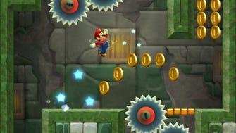 One of the courses available in the mobile game 'Super Mario Run.'