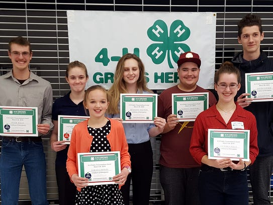 Several Steuben County 4-H members gave presentations