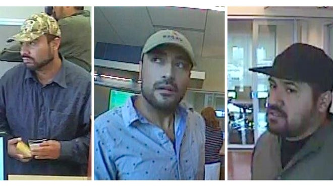 These men are suspected of cashing checks stolen from Cox Construction in Stuarts Draft.