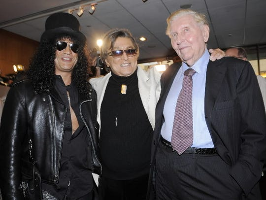 Sumner Redstone, right, at a 2008 tribute event for