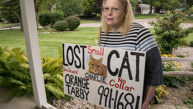 Joan Barch is searching for Charlie, her missing cat. She is grateful for the help she has had from friends and strangers.