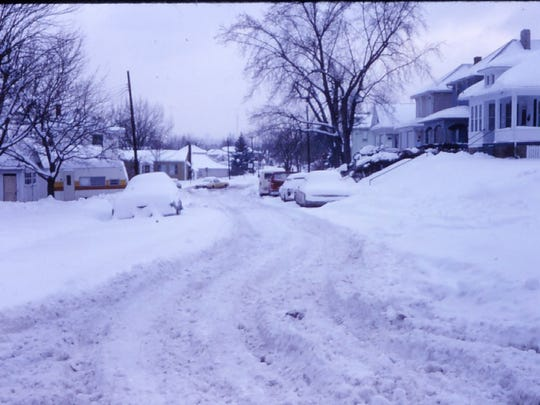 The aftermath of the Blizzard of 1978 in the McConnel Avenue neighborhood in Zanesville.