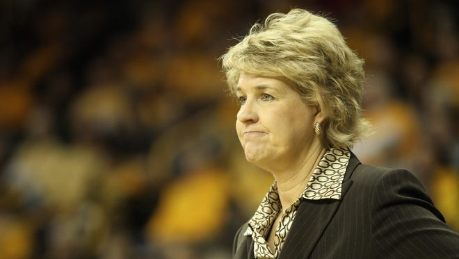 The two winningest coaches in Iowa women's basketball history, Lisa Bluder (pictured) and C. Vivian Stringer, play each other on Sunday.