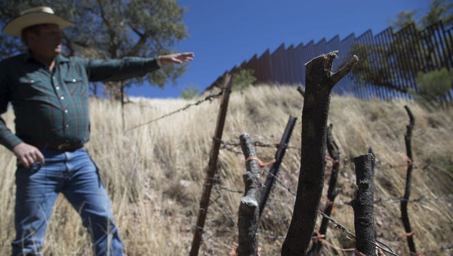 Dan Bell, who ranches 35,000 acres near the US-Mexico border, says it would be difficult to build a wall in some spots because of rugged terrain.