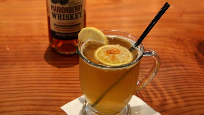 The Taproot Toddy at Taproot Lounge and Cafe is made with local marionberry whiskey, hot water, lemon, honey, ginger and cayenne.
