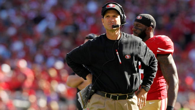 Head coach Jim Harbaugh and the 49ers will try to avoid a third consecutive loss when they face the St. Louis Rams on Thursday.