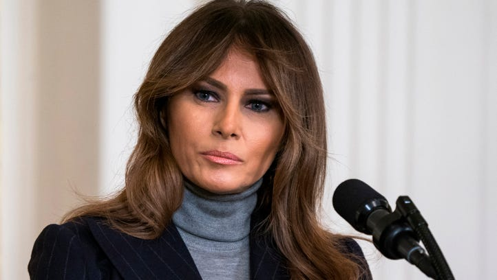 epa06818300 (FILE) US First Lady Melania Trump speaks