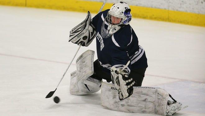 Pittsford goalie Ryan Zaucha.