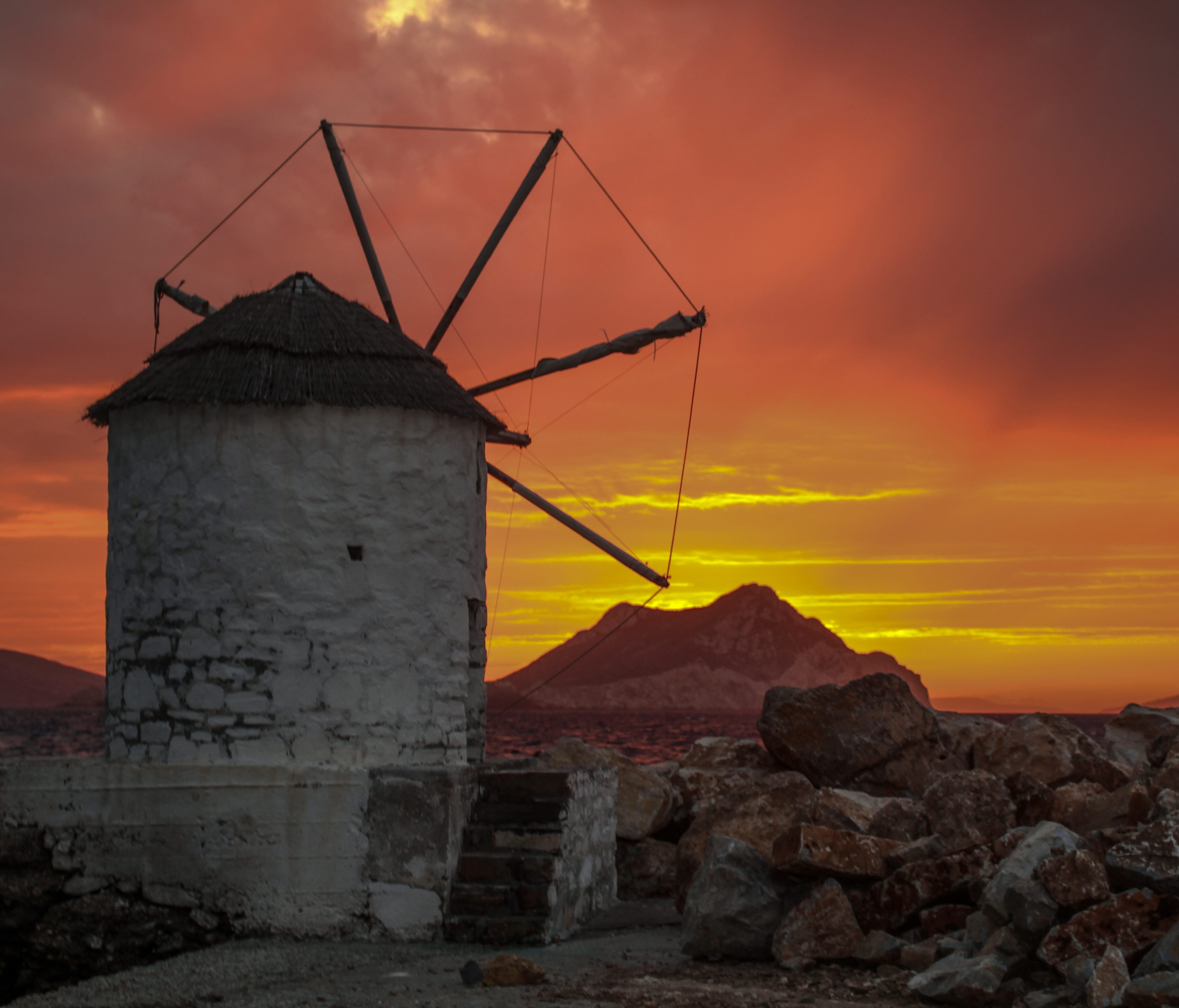 Amorgos Island boasts some of the most jaw-dropping sunsets in the Aegean Sea.