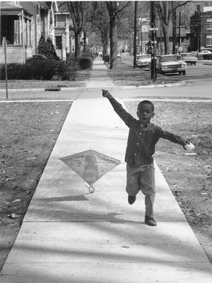 Local photographer Sol Goldberg captured a young Ithacan in a joyful moment as he launches his kite. Learn more about Sol Goldberg and his photography in the new exhibit at The History Center opening on April 1.