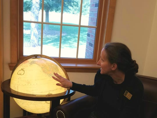 Sarah Muench, library director of Elm Grove Public Library, hopes to expand the homebound delivery service at the library.