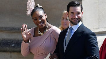 Serena Williams wore sneakers under her evening gown at Royal Wedding