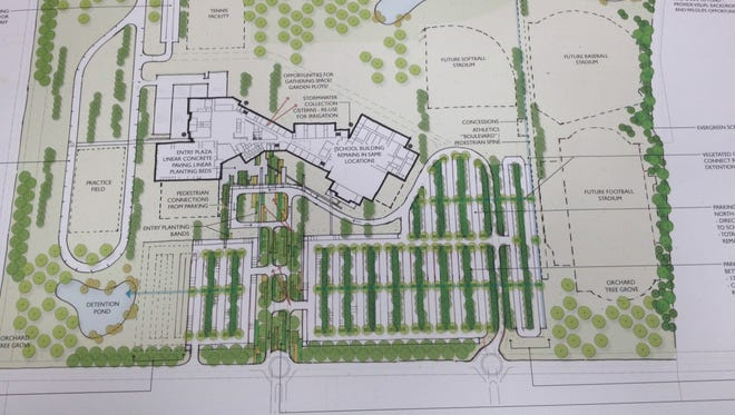 This preliminary design shows what the new high school in Youngsville may look like.