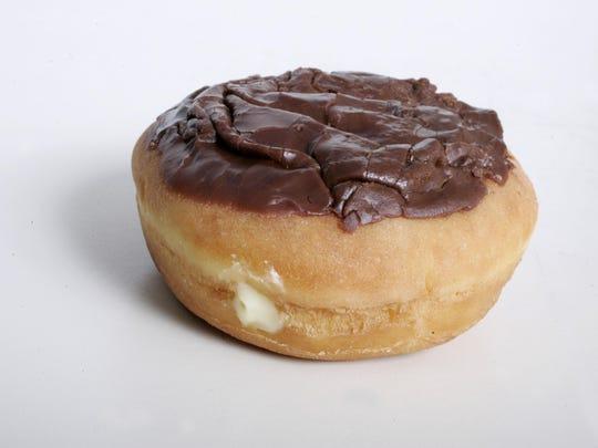 Dunkin Donuts' Boston creme doughnut.