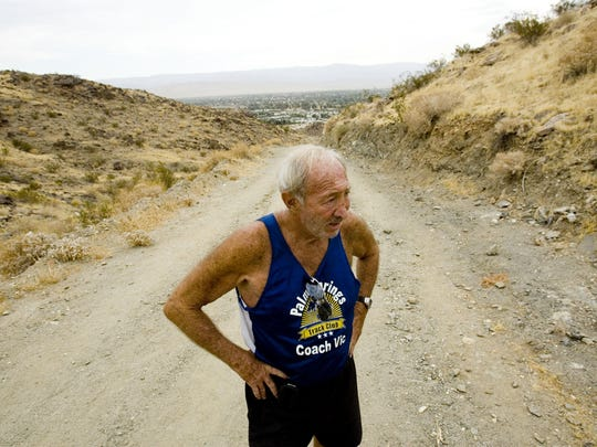"""Vic Gainer, 76, stopped running in 2001 after injuries took a toll on his body after running over 20 marathons. But recently decided to start again after he read a book """"Born to Run."""""""