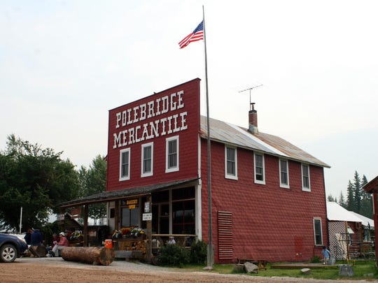 The Polebridge Mercantile is a frequent stop for tourists in the North Fork of Glacier.