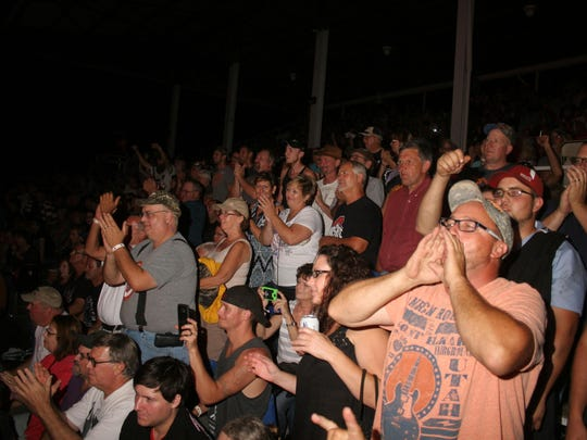The crowd was enthusiastic at the Ted Nugent concert Saturday night at the Sandusky County Fair.