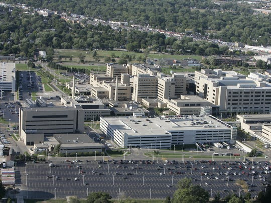 An aerial view of Beaumont Hospital in Royal Oak. Beaumont Hospital is requesting state approval to build a ninth hospital in Oxford.