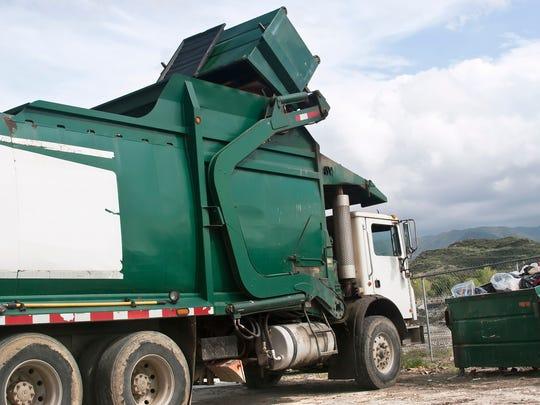 Trash pickup.