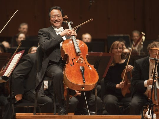 Yo-Yo Ma will perform on Nov. 18 at the Center for