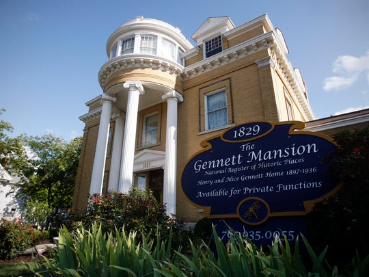 The Gennett Mansion on East Main Street is an example of the outstanding architectural designs of John Hasecoster.