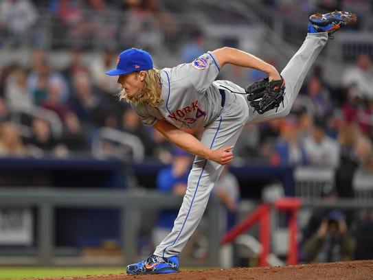 Apr 20, 2018; Atlanta, GA, USA; New York Mets starting