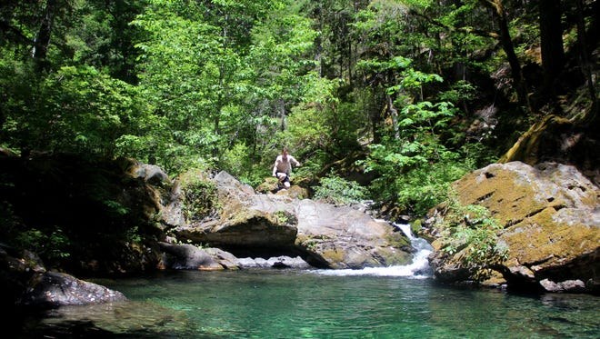 The Middle Fork Applegate River Trail just south of the Oregon and California state line.