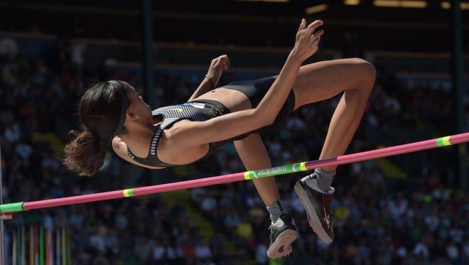 Vashti Cunningham finishes second in the U.S. Olympic trials.