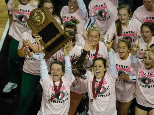 More than 11,000 girls play Iowa high school volleyball at more than 350 schools, including Class 3A state champion Waterloo Columbus.