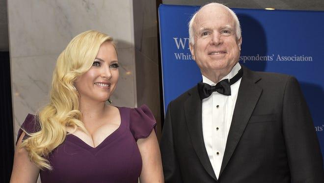 Meghan McCain and her father, U.S. Sen. John McCain, R-Ariz, in May 2014 in Washington.