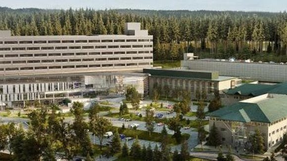 An artists rendering of the future Harrison Silverdale campus.