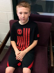 Fifth grader Jackson LaPorte was a member of the Leadership