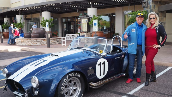 "Bob and Pat Bondurant enjoying ""Shelby Day"" at the Motorsport Gathering."